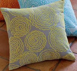 West Elm Yellow and Grey Pillows @ Chasing Davies
