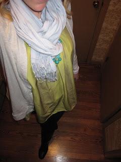 Blue pashmina scarf @ Chasing davies