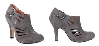 Grey Cut-out Booties by Steve Madden @ Chasing Davies