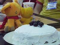 La torta aun intacta