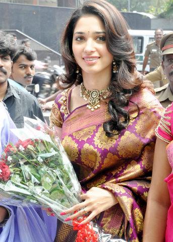 Actress Tamanna at Silk Saree Centre Opening Ceremony