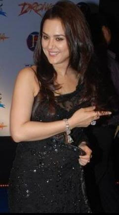 scandals bollywood actress preity zinta in transparent
