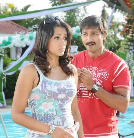 actress thrisha krishnan stills with gopichand in sivappu