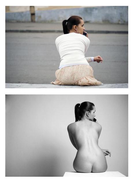 naked project mulheres modelos nuas e vestidas pose