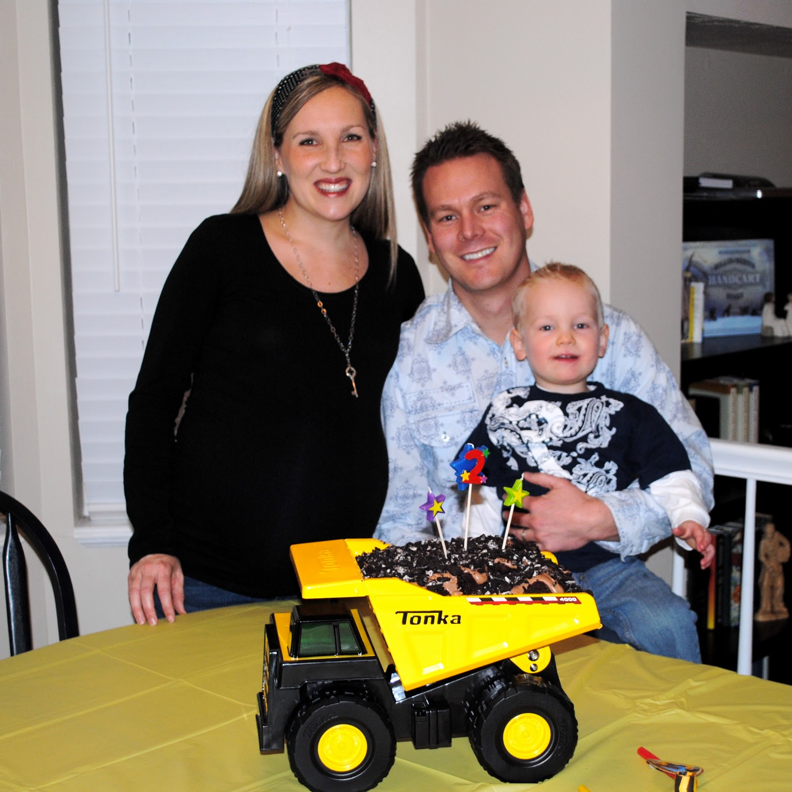 Mud Trifle And A Dump Truck Birthday Cake