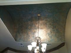 Ceiling Metal Patina Finish