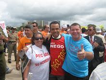 Mari, Deputado Maj Fábio e Sidnei Leandro