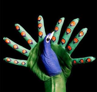 Amazing hand painting art