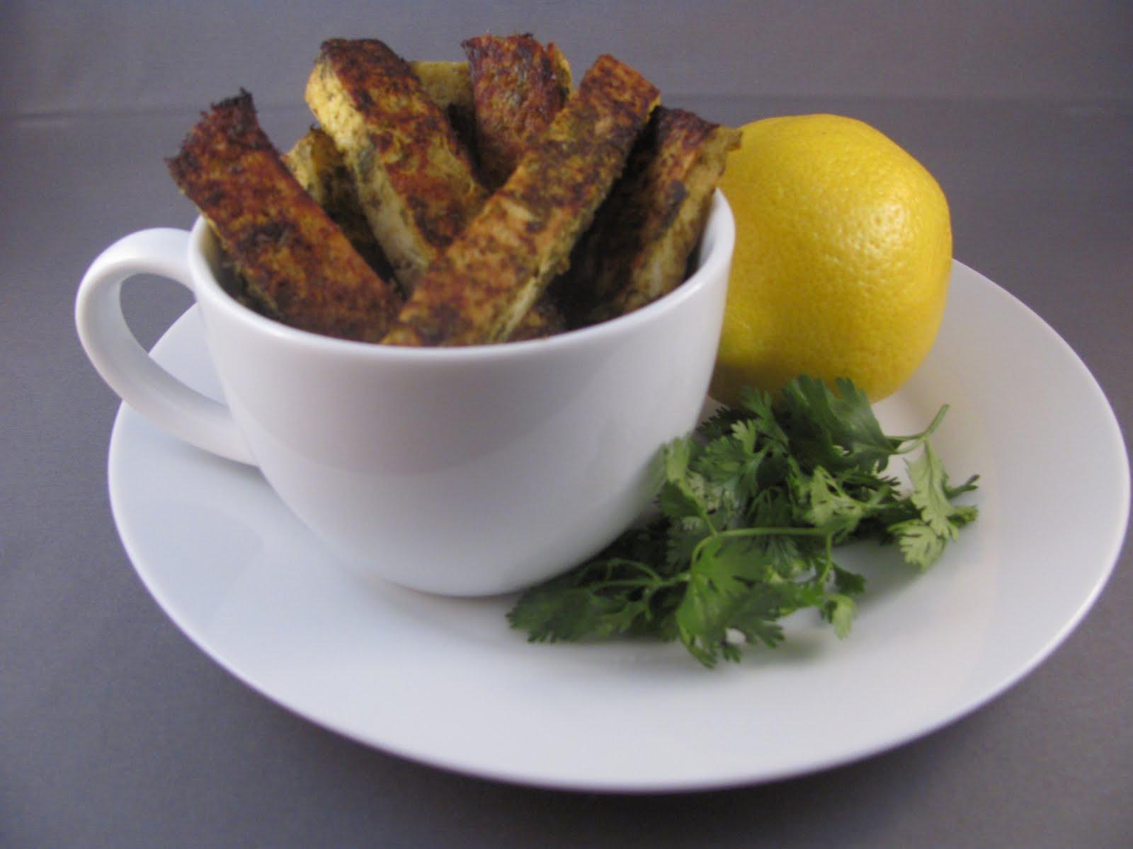 Veggie by Season: Spicy Cilantro Baked Lemon Tofu Sticks