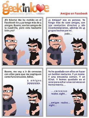 Humor Geek: Amigos en Facebook