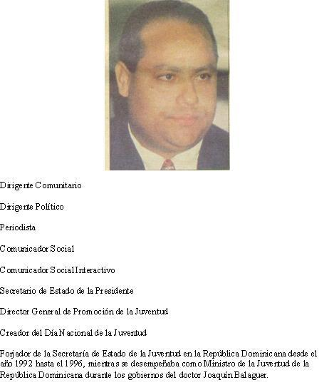 Lic. Domingo Gutiérrez Cruz, Secretario de la Presidencia en el Gobierno del Dr. Balaguer (1993)