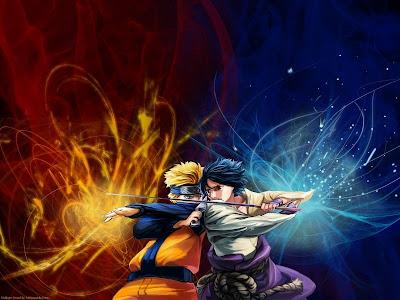 Naruto VS Sasuke Wallpaper free Download