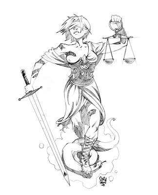 Last, but not least, this Riot Grrl Lady Justice is a tattoo commission I'm