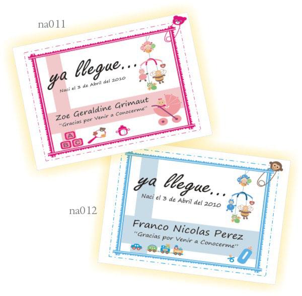 Tarjetas souvenir de nacimiento para imprimir - Imagui
