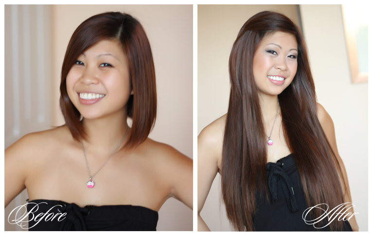 Luxme Hair Extensions Before After Luxme Hair Extensions