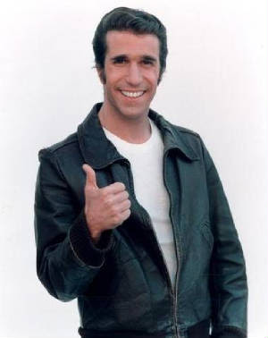 Fonzie...cause he is cool.