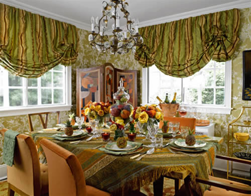 Dining room table style centerpiece - Dining room table decor ...