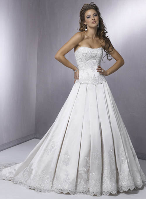 Wedding dress wedding gown for Strapless bustier for wedding dress