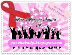 BEST BLOGGER AWARD 2009