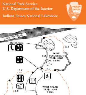 Indiana Dunes Succession Trail Map