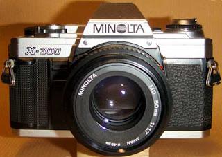 vintage cameras & equipment: minolta x 300 35mm old