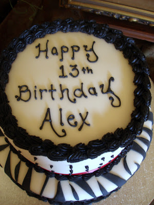 Zebra Birthday Cake for Alex