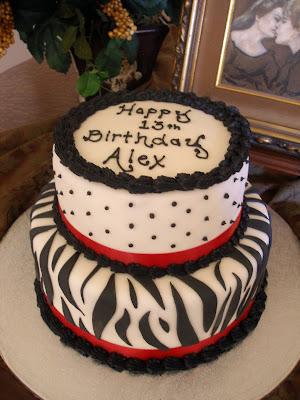 LaDue Crew Zebra Birthday Cake for Alex