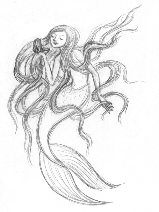 Mermaid Love Drawings Love of Drawing Mermaids