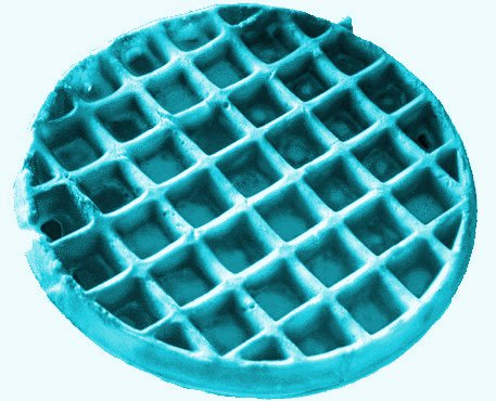 blue waffle  picture
