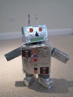 Kartondan oyuncak – Robot