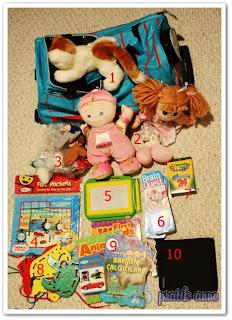 Kısa yolculuklar için çocuklara animasyon çantası