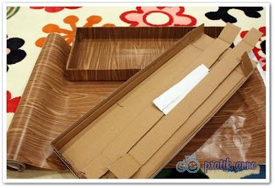 Kartondan oyuncak – Sayı çubukları kutusu (Spindle box)