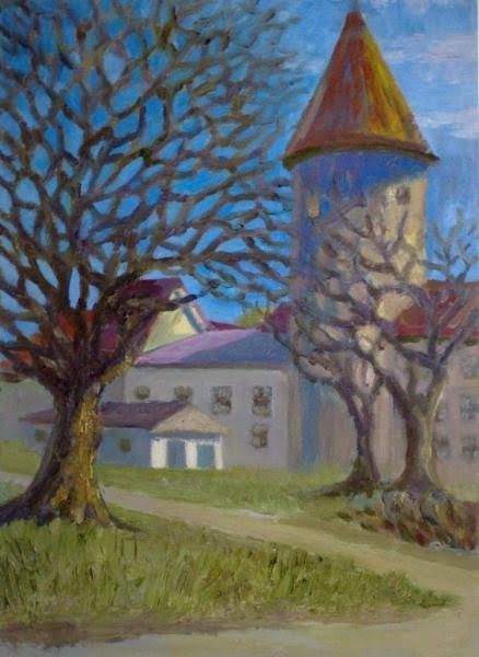 16.The part of Oleviste Church,oil on canvas,33x24cm,Estonia 2009