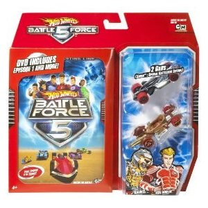 TRACK SET: Hot Wheels Battle Force 5 Collector Gift Set with BONUS DVD