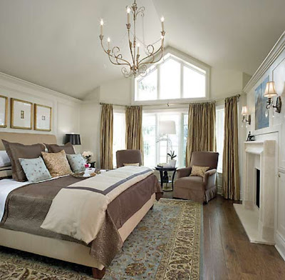 This cozy bedroom enjoying the charm of France. Gentle shades of cream