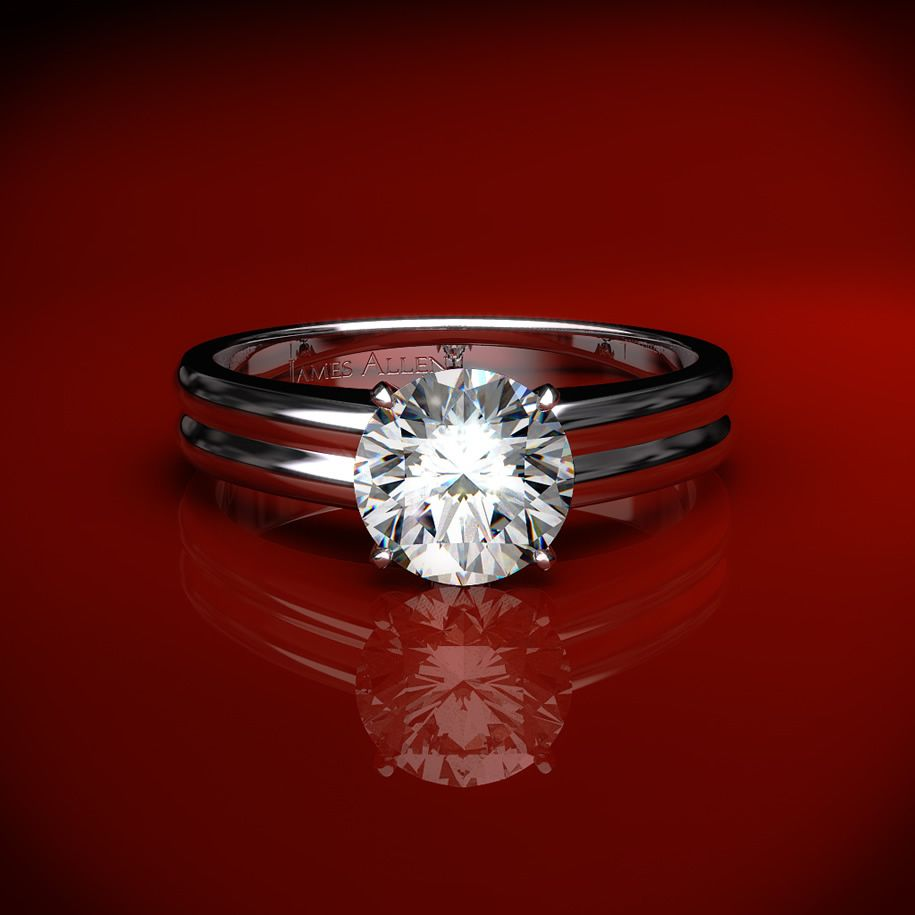 solitaire bands simply diamond elegant princess pave solitare rings