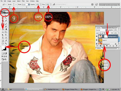 Belajar Photoshop: Cara Ganti Background foto dengan photoshop