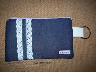 iya, saya sedang membuat e-book untuk cara membuat dompet denim ini