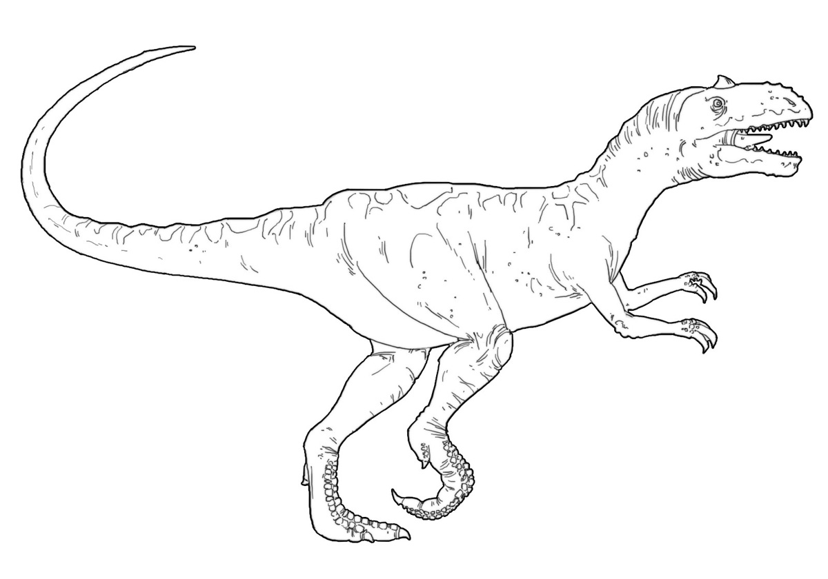 Allosaurus Coloring Pages Allosaurus Coloring Page