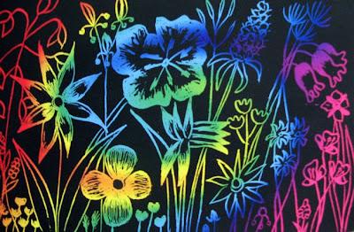 LinsArt Scratch Art Flowers