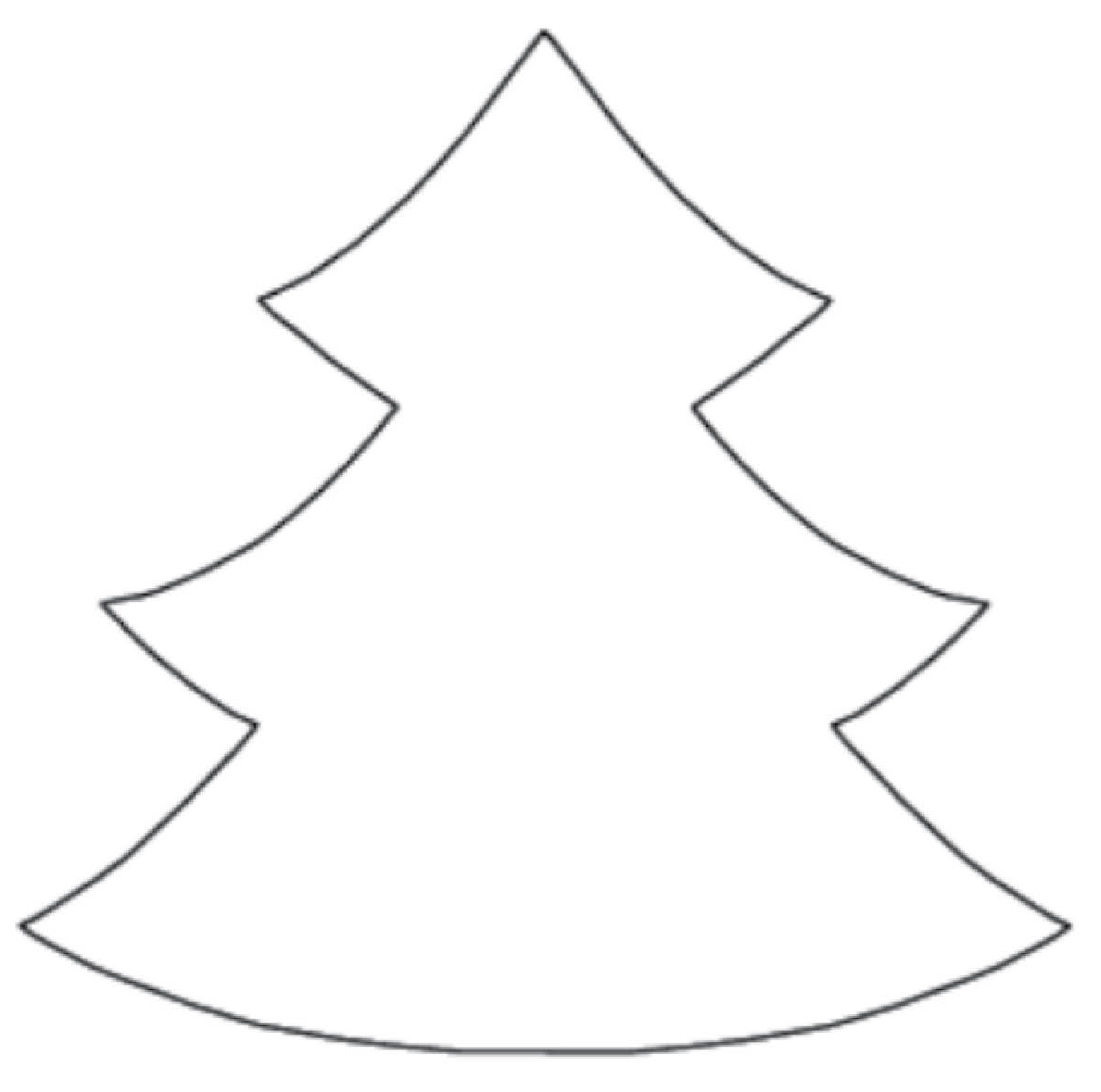 Légend image regarding christmas tree cutouts printable