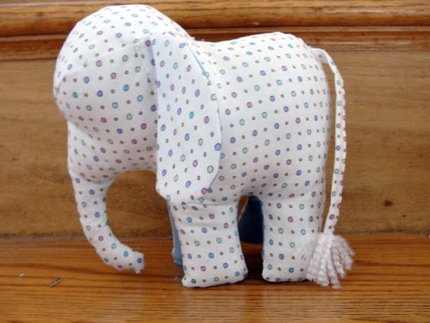 baby favor: make your own elephant softie, sewing patterns