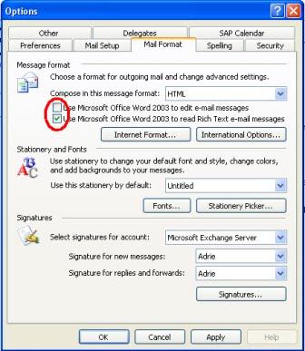 e-mail editor