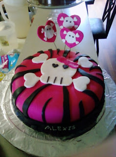 Girly Skull Cakes http://amyssweetshop.blogspot.com/2010/07/girly-skull-cake.html