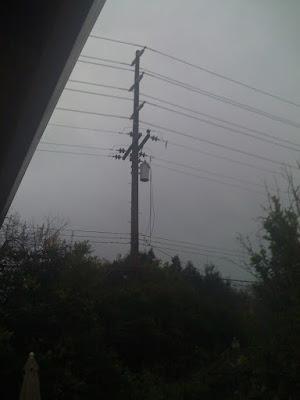 Fried Transformer on Pole