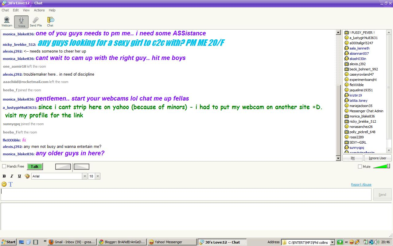 Yahoo dating chat rooms
