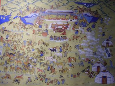 Выставка картин монгольских художников