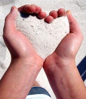 corazon en arena