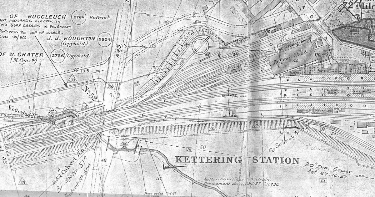 Transportation Images  Kettering Station Track Diagram