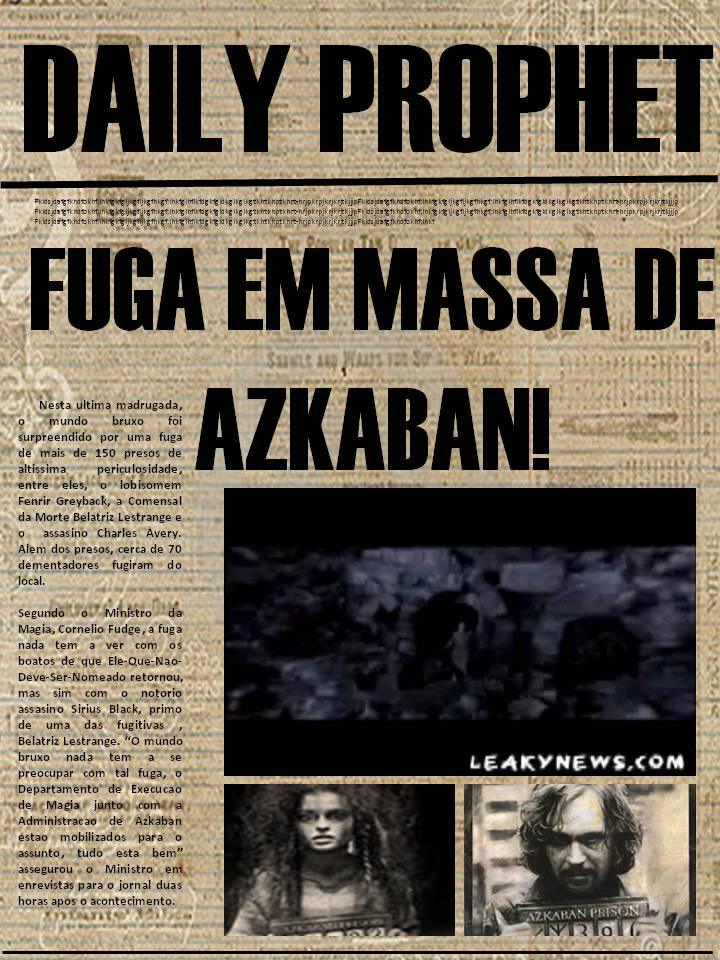 HARRY POTTER: Paginas do Profeta Diario....(eu que fiz) Harrypotter